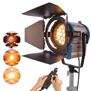Junior Fresnel Tungstène 1000W Studio Lumière Variable Spotlight Éclairage Vidéo