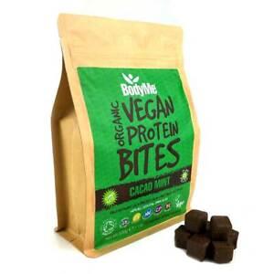 BodyMe Organic Vegan Protein Bites   Raw Cacao Mint   500g   100 Bites