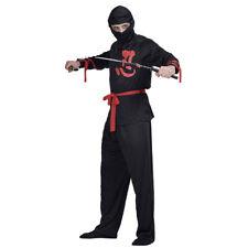 Adult Men Ninja Costume Japanese Samurai Warrior Martial Arts Fancy Dress Outfit