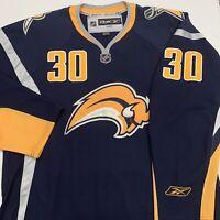 Ryan Miller Buffalo Sabres Hockey Jersey Mens Adult XL Blue NHL Hockey 30 Reebok