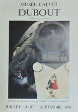 """""""DUBOUT MUSEE CALVET AVIGNON"""" Affiche originale entoilée offset 1984 54x74cm"""