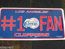 "1 Los Angeles Clippers ""#1 Fan"" Metal License Plate LA"
