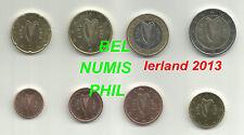IERLAND 2013 - 8 Munten/Monnaies uit de zak/sachet - UNC!!!