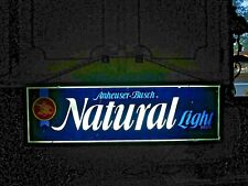 Rare 1978 Anheuser Busch Natural Light Beer 2 Sided Lighted Beer Sign