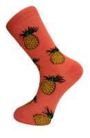 Frederick Thomas bright pink mens socks with pineapple mens novelty cotton socks