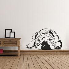 Lazy Bulldog Cute Dog Art Wall Sticker for Home Decor   Pet Puppy Wall Decal