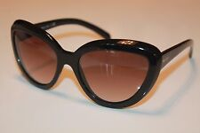 PRADA Womens Sunglasses PR08RS - 1AB0A7 Black Butterfly Frame/Grey Gradient Lens