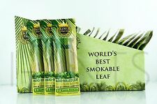 6x King Palm King Size 100% Tobacco Fee Natural Leaf Rolls With Corn Husk Filter