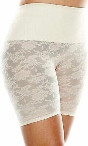 Cortland Shapewear Long Leg Lace Banded Ivory (Nude) Shaper Super Size 54/12XL