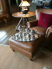 "Huge 38"" Sterling Silver Tray with tea set"