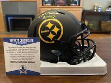 Joe Greene Autographed Pittsburgh Steelers Eclipse Mini Helmet HOF 87 Beckett