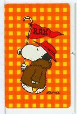 "Single Playing Cards Pin Up ""Peanuts, Snoopy"" Hallmark 1607 K"