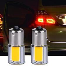 2x Auto Blinker Ruecklicht 1156 4 COB LED Birne Lampe 12V Bernstein / Gelb
