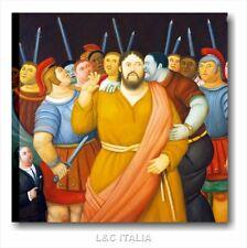 Botero, Il bacio di Giuda QUADRO MODERNO STAMPA SU TELA ARTE RIPRODUZIONE QUADRI
