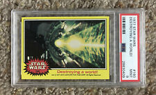 "1977 (TOPPS) Star Wars ""DESTROYING A WORLD"" #160 (PSA) 9"