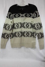 "NWT MAC & JAC Brown & Black ""Urban Elegance"" Sweater Womens Size L-B19"