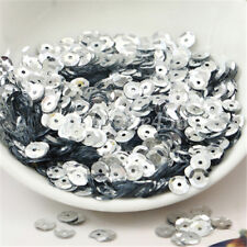 700Pcs Loose Sequins Paillettes 6mm Wedding Clothing Bag Shoes Craft DIY Sewing