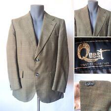 """Vintage 1970s Mens Quest by Hirst of Harrogate Green Jacket Blazer Size Med 40"""""""