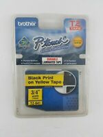 New Brother P-touch Black Print Yellow Tape Laminated Labels -TZ641 3/4 Width