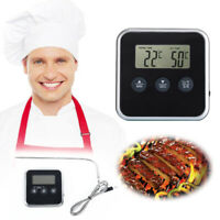 Kitchen Thermometer BBQ Oven Grill Grilling Roasting Frying LCD Fashion