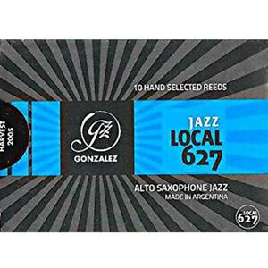 Gonzalez Eb Alto Saxophone 'Jazz Local 627' Reeds Strength 3.75, Box of 10