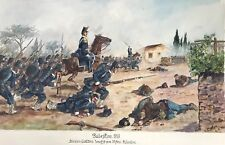 C) Gemälde Schlacht Division Cialdini besetzt 1859 Palestro Hermann Sattler~1918