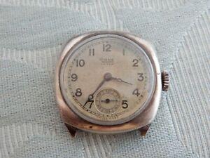"""Swiss 1937 Silver """"Rone"""" with hallmarked Dennison """"Meteor"""" Case, for restoration"""