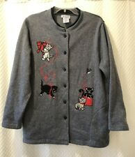 Blair Large Cardigan Sweater Jacket Cats Kittens Birds