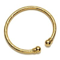 Women's Open Bangle Bracelet 18k Yellow Gold Filled Jewelry Charming Gift