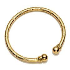 Women's Open Bangle Bracelet 18k Yellow Gold Filled Jewelry Charming Gift