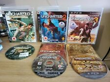 PLAYSTATION 3 PS3 UNCHARTED TRILOGY 1 DRAKES FORTUNE 2 AMONG THIEVES 3 DECEPTION