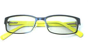 Nike 5567 404 Blue/Yellow 51-16-135 Eyeglasses Rectangular Frames