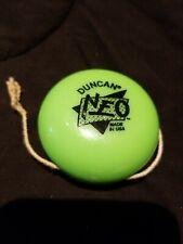 "Vintage 1997 DUNCAN YOYO NEO Green 2 1/4"" Child's Toy Game"