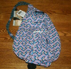 Kavu Mini Rope Bag Jewel Chevron Sling Backpack Crossbody Travel  9150-1097 NWT
