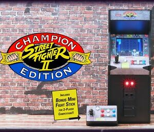 NIB🌟Street Fighter II RepliCade Arcade Machine 1:6 Scale New Wave Toys Cabinet