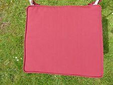 REDUCED – SET OF 2 Cushion Seat Pad / Chair Cushion 41.5 x 38 x 4 cm Ruby Red