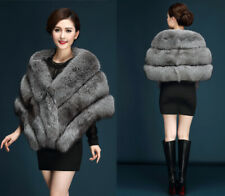 Women Wedding Faux Fox Mink Fur Luxury Cape Shawl Stole Wrap Shrug Scarf Sale