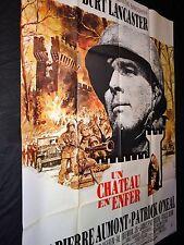 UN CHATEAU EN ENFER  ! burt lancaster affiche cinema guerre mascii  1969