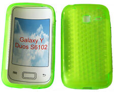 Per Samsung Galaxy Young Y Duos GT S6102 PATTERN Gel Custodia Protettiva Cover Verde
