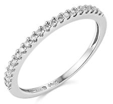 0.45 кар круглым вырезом реальной 14k белое золото обручальное годовщина свадьбы лента кольцо
