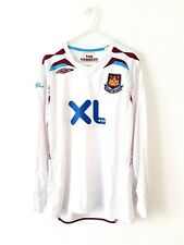 West Ham United Away Shirt 2007. Small Adults. Umbro. White Long Sleeves Utd Top