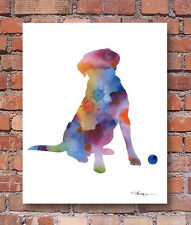 LABRADOR RETRIEVER Contemporary Watercolor ART 11 x 14 Print by Artist DJR