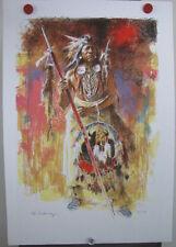 Roy Andersen -Buffalo Medicine #72/175 Lithograph Native American Indian Warrior