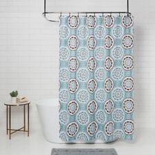 "THRESHOLD Floral Medallion Shower Curtain | Blue/Brown | 72""x72"" 