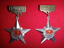 "Pair Of VC Medals ""CHIEN SI QUYET THANG"" (Resolved-To-Win Soldier) Year 1985"