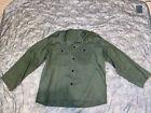 US Army M-1947 HBT Fatigue Shirt - X-Large XL - Private Purchase Korean War M47Original Period Items - 586
