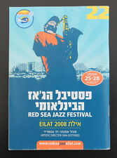 2008 RED SEA JAZZ Festival Brochure Booklet Bill Evans, Brecker, Stern, Oregon