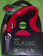 Flexi CLASSIC dog tape leash large L 26 feet * 110 lbs *  RED