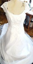 NEW ♡ #7  WEDDING GOWN DRESS ♡ BEAUTIFUL ♡ LONG TRAIN  ♡ SIZE 16