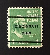 Cincinnati, Ohio DLE Precancel - 1 cent Prexie (U.S. #804) OH